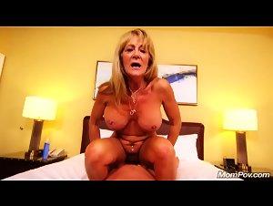 MomPOV - Sandra (Hot busty cougar exhibitionist POV)