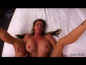 MomPOV - Mallory (Hot big tits MILF returns for anal)