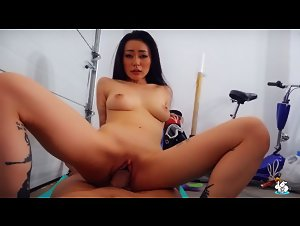 TrueAmateurs - Rae Lil Black (Asian Babe Fucks her Boyfriend in the Garage)